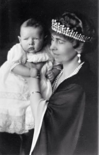 Queen Sophie of Greece with grandson Prince Mihai of Romania