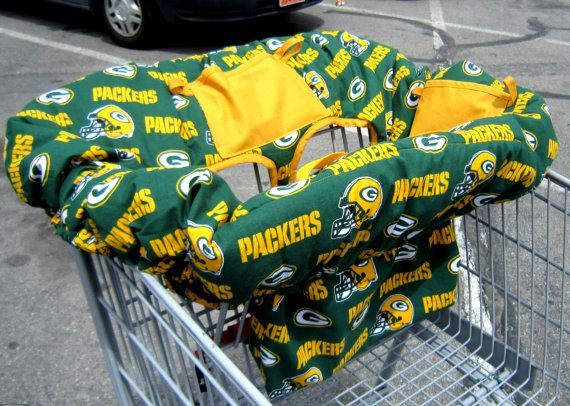Green Bay Packer Baby Shopping Cart Cover / by SophiesRainbow, $69.99