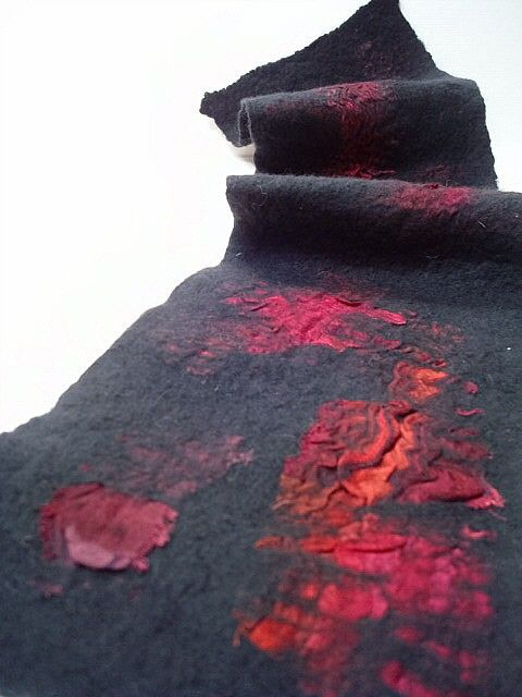 PDF tutorial nuno felted wool scarf.: