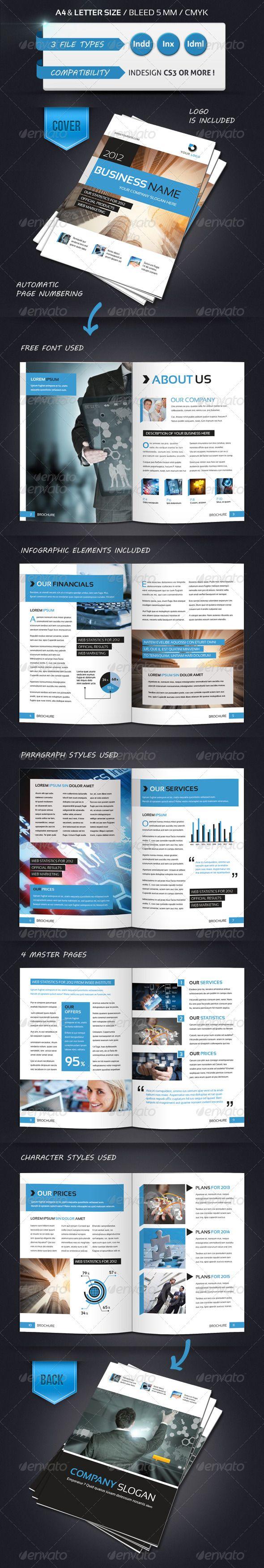 Best Brochure Templates Images On Pinterest Brochure - Brochure template for pages