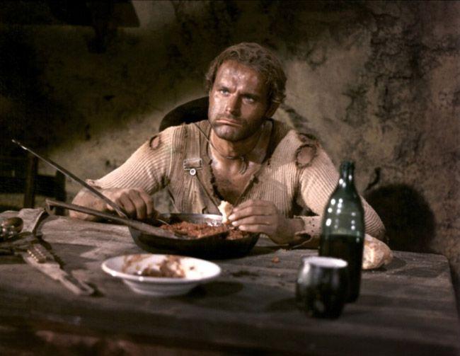 """My """"All time favourite scene""""! Terence Hill aka """"Der müde Joe"""" in """"Die rechte und die linke Hand des Teufels""""."""
