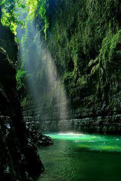 Green Canyon, Pangandaran, West Java - #Indonesia