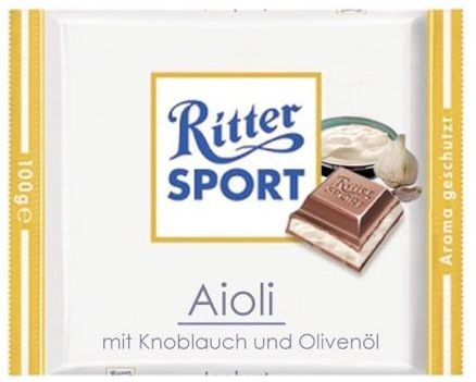 RITTER SPORT Fake Schokolade Aioli