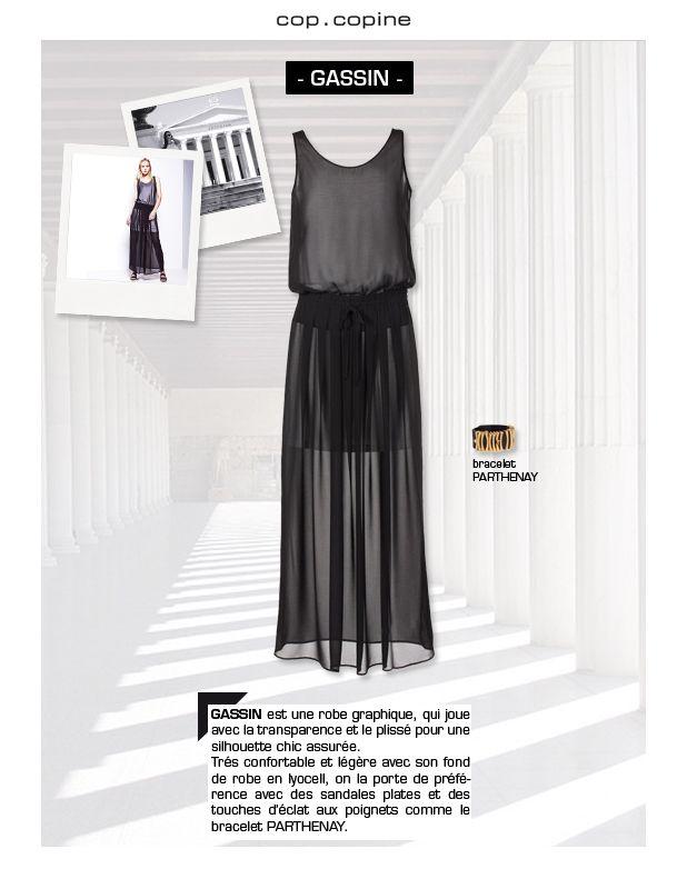 -Get dressed! #2- GASSIN, une robe graphique dans la tendance Néo Dressy