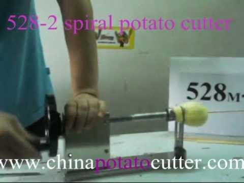 Best spiral potato cutters in china http://www.youtube.com/watch?v=_LkTqyi-JYI   528 spiral potato cutter sell well in Europe & America (with CE). We are factory, not Trade Company, so we can offer you the lowest price and best products that helps you to make your own potato chips.