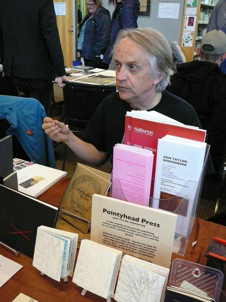 Don Taylor, bookbinder, Toronto, Ont. Photo by Don McLeod.