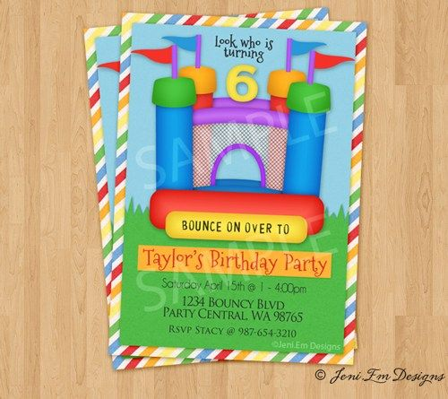 13 best Bouncy castle birthday images – Bouncy Castle Party Invitations