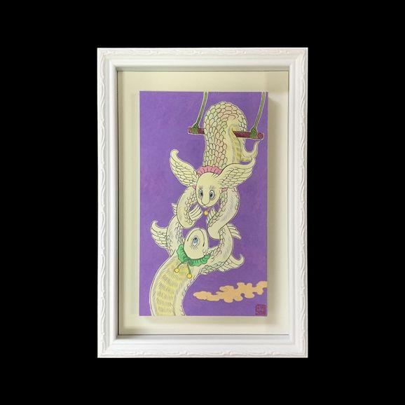 IDEE SHOP Online 石黒 亜矢子 「空中ブランコ羽根蜥蜴 ユーブララーブラ」: アート・オブジェデザイン家具 インテリア雑貨: