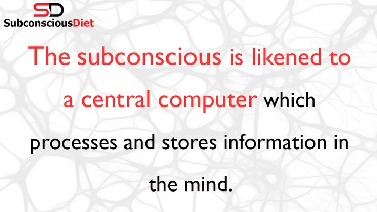 http://SubconsciousDiet.com.You need to understand the subconscious so you are able to harness its awesome power. Learn more here. Follow SubconsciousDiet on Twitter: http://Twitter.com/DietmindHacks Like SubconsciousDiet on Facebook:  http://Facebook.com/SubconsciousDiet