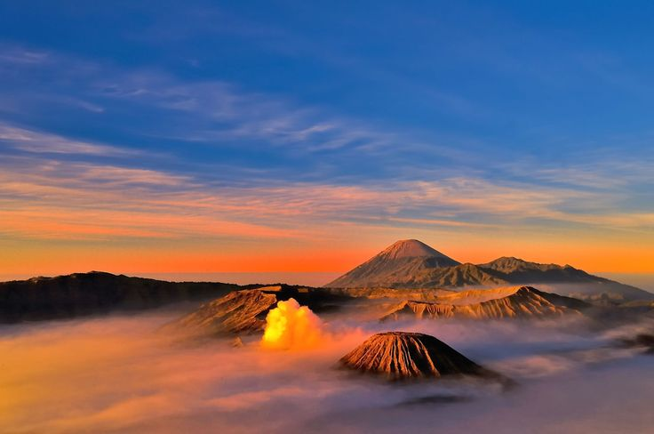 Sunset in Mount Bromo. What an amazing view!