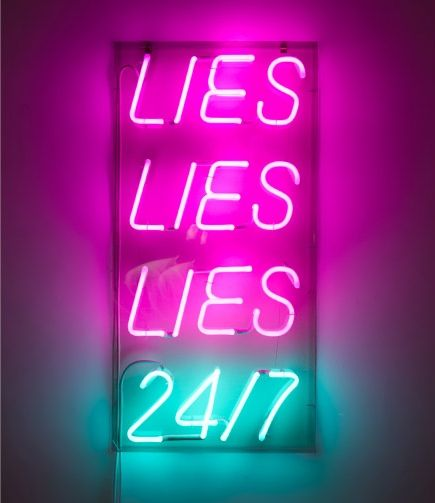 'Special offer (lies)' Neon, 2010 by artist   Paolo Fumagalli http://www.paolo-fumagalli.com/