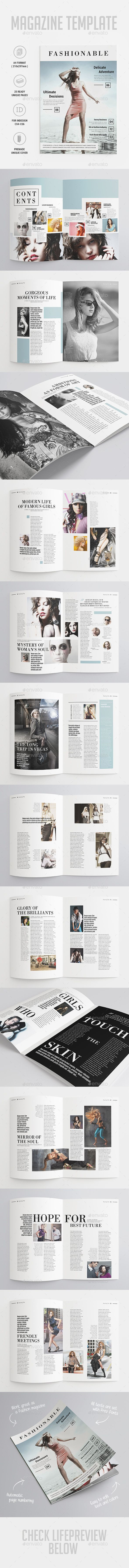 Fashion Magazine Template | #magazinetemplate #magazinedesign | Download: http://graphicriver.net/item/fashion-magazine/10093001?ref=ksioks