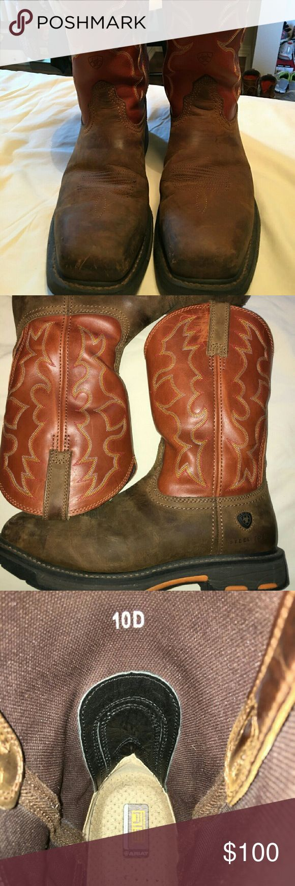Ariat mens Steel toe men's work boots Ariat Shoes Boots