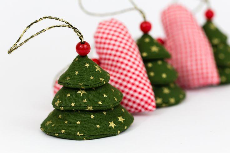 weihnachtsanhänger  5teilig  nähen weihnachten
