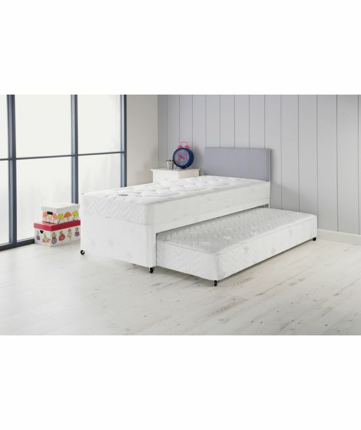 Airsprung Elliott Deluxe Single Divan Bed With Trundle At Argos Co Uk Your Online For Children S Beds