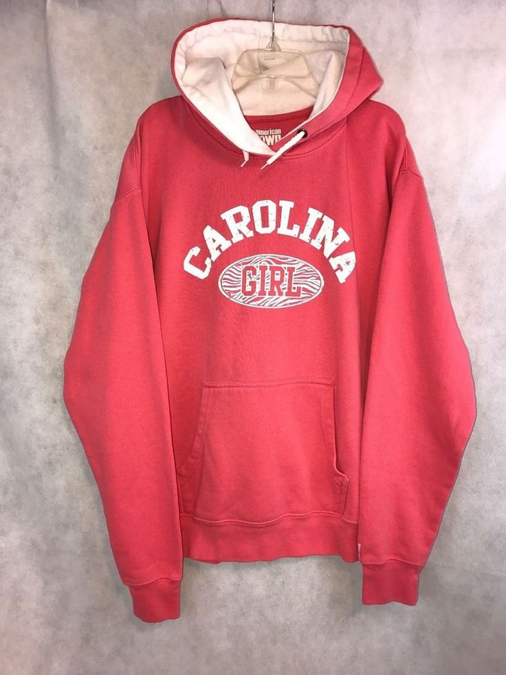 American Crown CAROLINA GIRL Coral Pullover Hoodie Size XXL | Clothing, Shoes & Accessories, Women's Clothing, Sweats & Hoodies | eBay!
