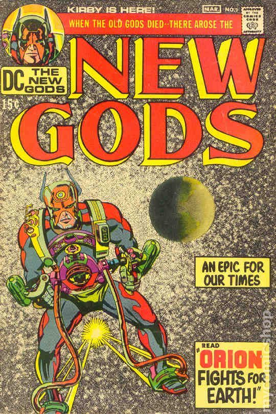 NEW GODS 1, JACK KIRBY, SILVER AGE DC COMICS