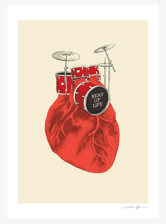 """""""Beat of Life"""" art print by ilovedoodle"""