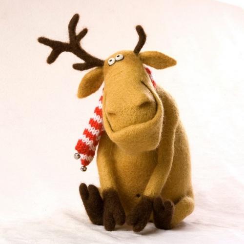 reindeer by Valentina Krasnova