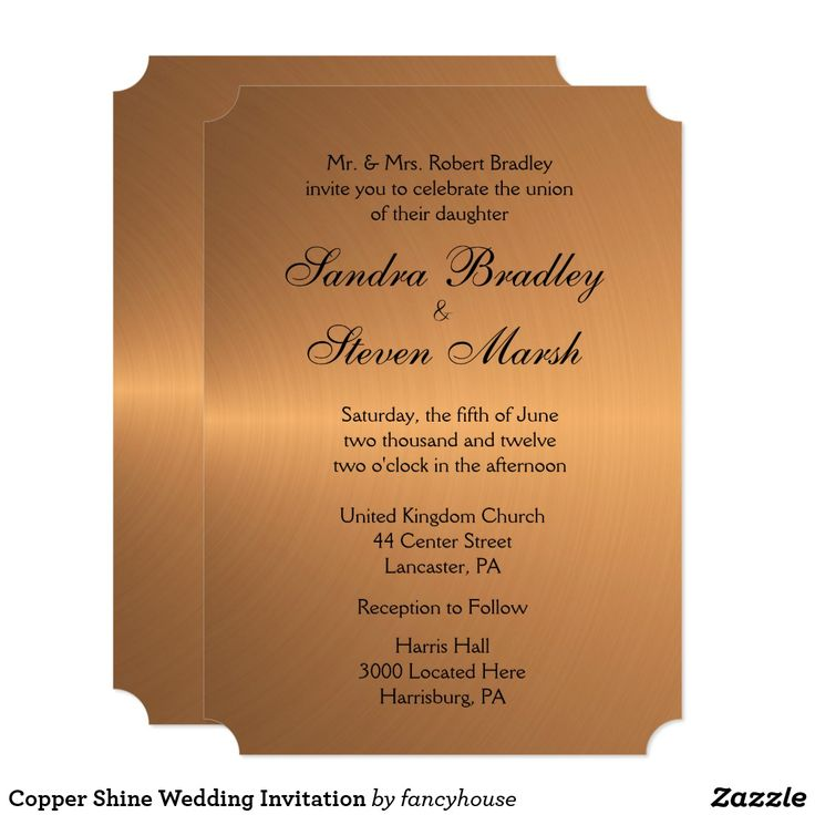 zazzle wedding invitations promo code%0A Shop Copper Shine Wedding Invitation created by fancyhouse