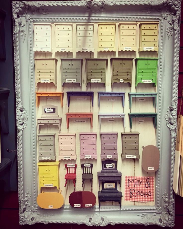 Our Annie Sloan colour chart at Milly & roses, Newcastle under Lyme Staffordshire uk.