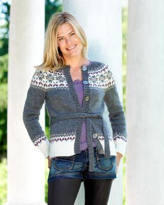 Mayflower Trøje med mønstret rundt bærestykke, gratis oppskrift - Design og opskrift: Lene Holme Samsøe