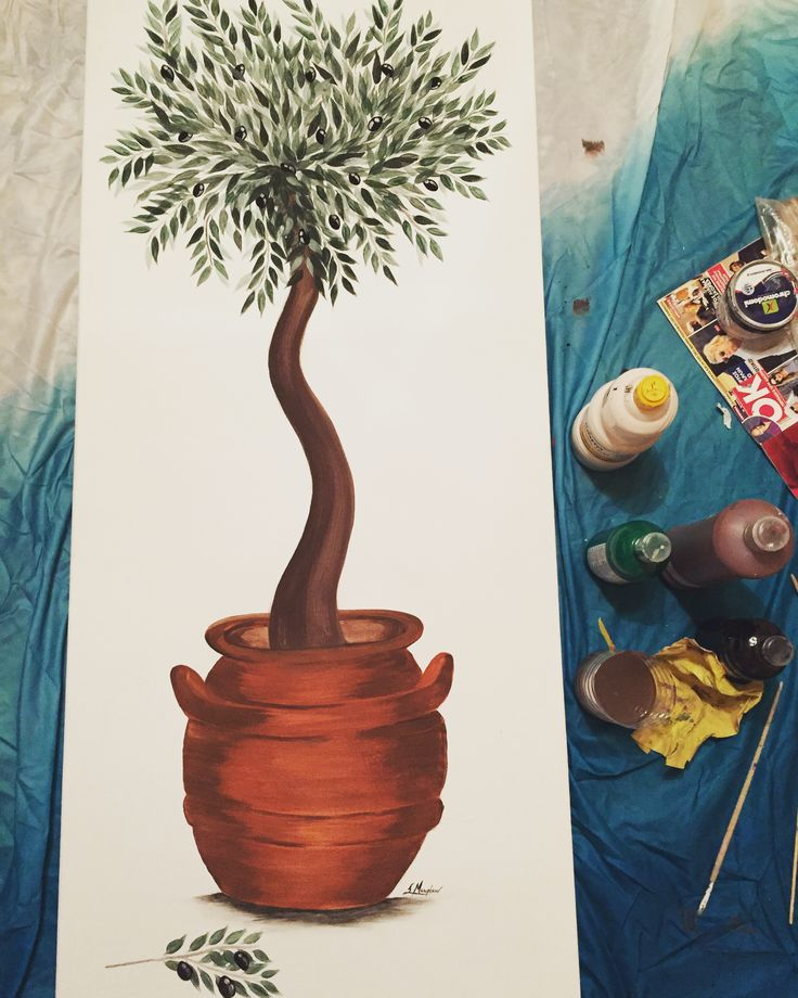 Olive tree 1,60 x 0,50 🌿 #canvasart