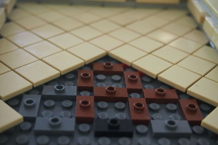 Diagonal tile construction