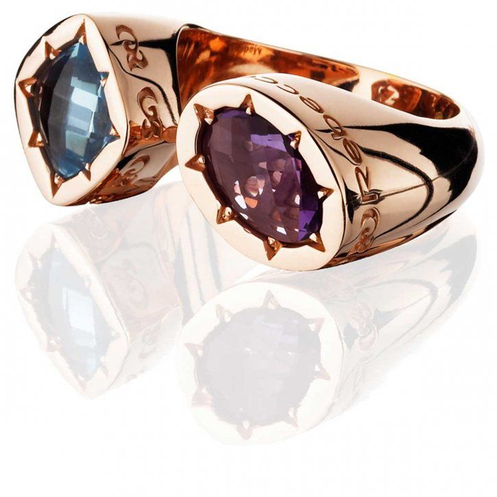 From the Tropezienne Collection, this two-stone ring is crafted in bronze by Rebecca