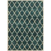 Found it at Wayfair - Teal/Ivory Area Rug