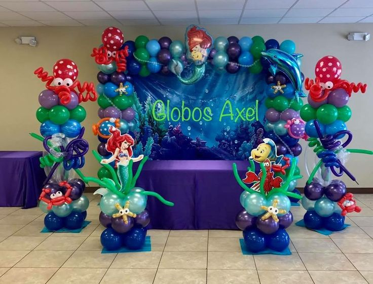 Image result for little mermaid balloon arch