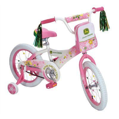 John Deere 16in Pink Girls Bike