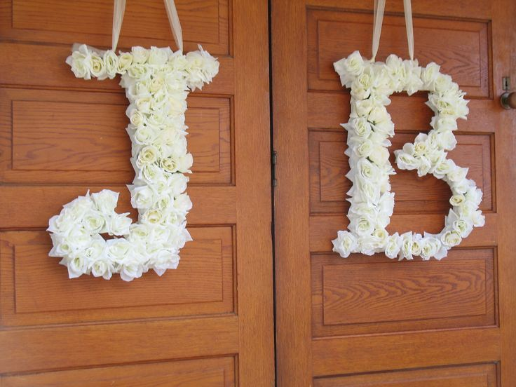 1 custom floral letter, Wedding Custom Floral Letters, Front Door Decorations, Church Door Decor, Bridal Gifts, Rose Wreaths. $135.00, via Etsy.