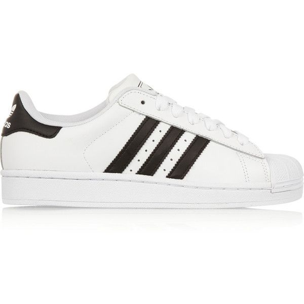 adidas Originals Superstar II leather sneakers found on Polyvore