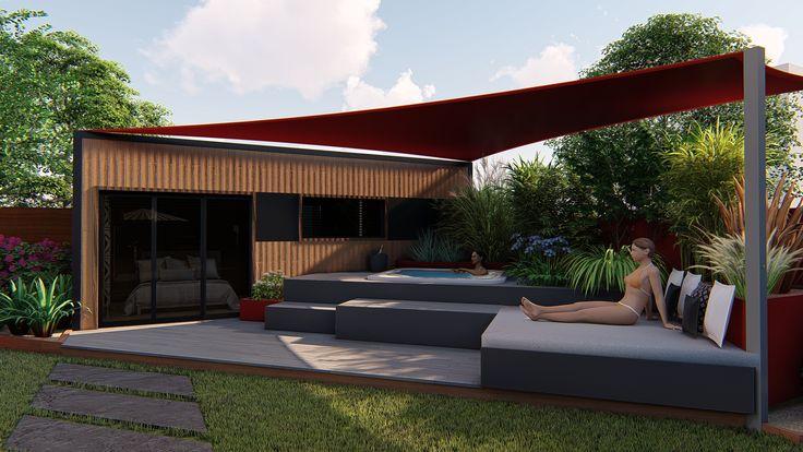 Détails technique du studio est equipé: • D'une structure métallique IPN • Un bardage en Mélèze • Une isolation compléte :Mur : 50 mm de laine de bois /Toiture : 150 mm de laine de bois/ Plancher : 80 mm de laine de bois • De fenêtres en aluminium double vitrage anthracite : 3 fenêtres 140 x ht70, 1 fenêtre fixe 70xHT215, 1 baie vitrée 3 pans 210xht215