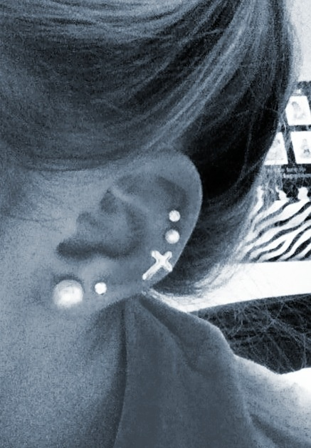 Triple cartilage piercing   Jewelry   Pinterest