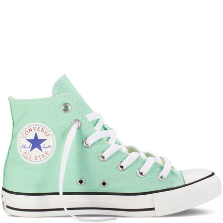 Mint Green High Top Converse Cute Converse Pinterest
