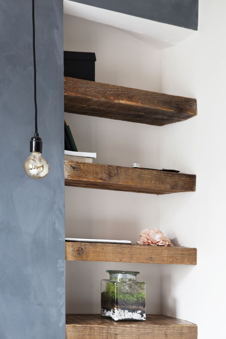 Find this Pin and more on Kitchen. I love the reclaimed wood shelves ... - Best 25+ Reclaimed Wood Shelves Ideas On Pinterest Diy Wood