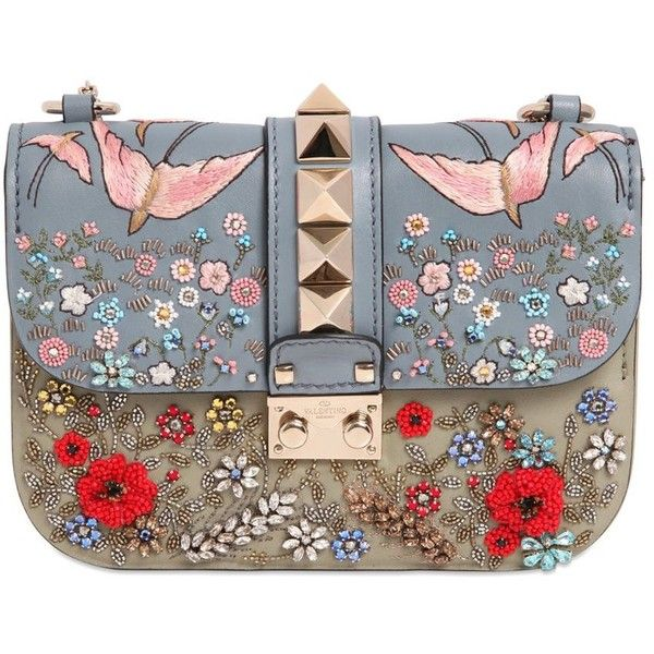 VIDA Leather Statement Clutch - White flower by VIDA