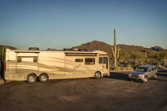 2005 Used American Coach 42r Class A in Arizona AZ.Recreational Vehicle, rv, Beautiful American Eagle on the world class Spartan Chassis with the sought after Cummins Diesel Engine. This is the one everyone wants. This is a 2005.5 before they went to Caterpillar engines. The coach has Independent Front Suspension for a smoother ride, Onan Automatic Slide Generator, Hydraulic Automatic Leveling System, Keyless Remote Entry, Rear and Side View Cameras, All Electric Patio Awnings, Laminated…