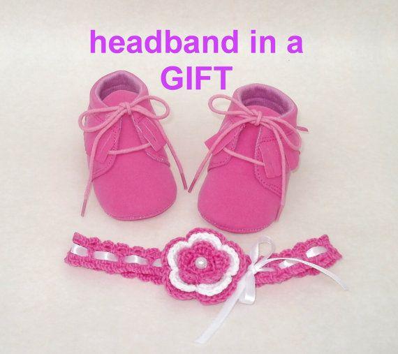 Туфли фуксия Пинетки мокасины розовый первая обувь от tappleta