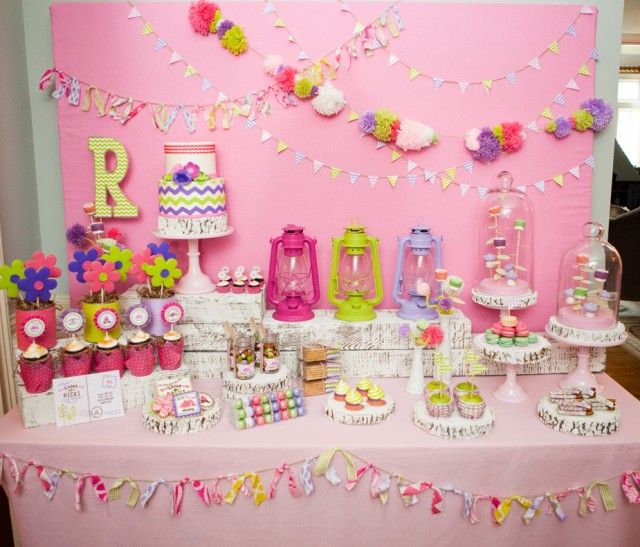 Glam Camping dessert table....This Blog has Great Party theme ideas   must see...D