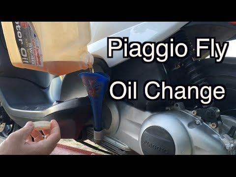 Piaggio Fly - Engine Oil Change