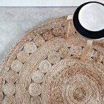 Round Dandelion Rug in Natural by Armadillo and Co | Urban Couture - Designer Homewares & Furniture Online