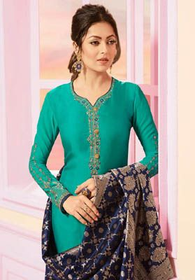 b5e90107ad Lt Nitya 121 Satin Georgette with Embroidery Suits 2108 | DESIGNER ...