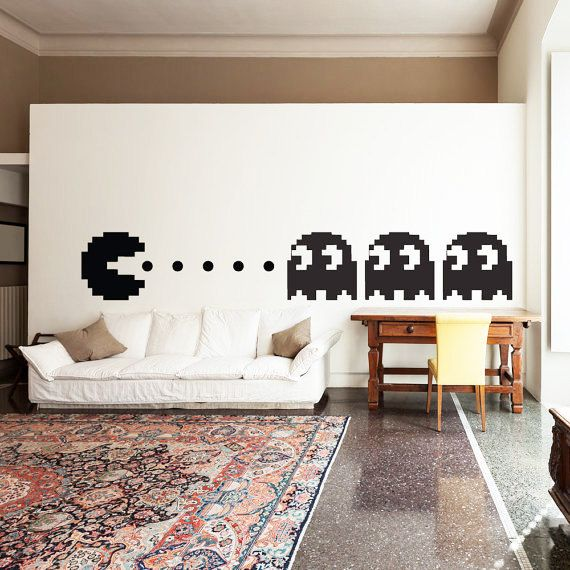 Pacman Wall Decal Decor Art Vinyl Pac Man Boys Kids Room Decals on Etsy, $24.99