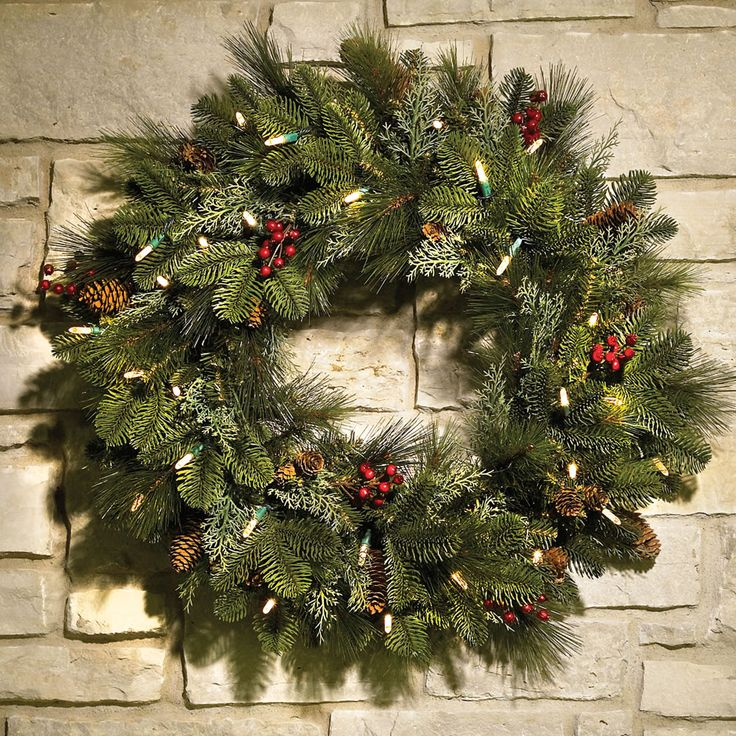 103 best christmas decor images on pinterest christmas deco the decorated cordless prelit holiday trim hammacher schlemmer inside size 1000 x 1000 lighted wreaths for outdoors cordless outdoor lighting can provide workwithnaturefo