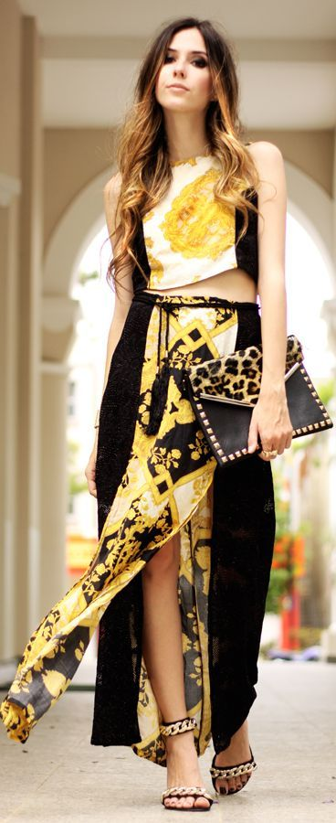 Look Du Jour:baroque by Fashion Coolture , love this .. very wedding y type feel .. or outdoor party outfit . loveeee .