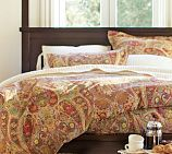 Our new bedding! Sadly backordered until December, but ordered none the less! Rosalie Paisley Duvet Cover, Twin, Multi