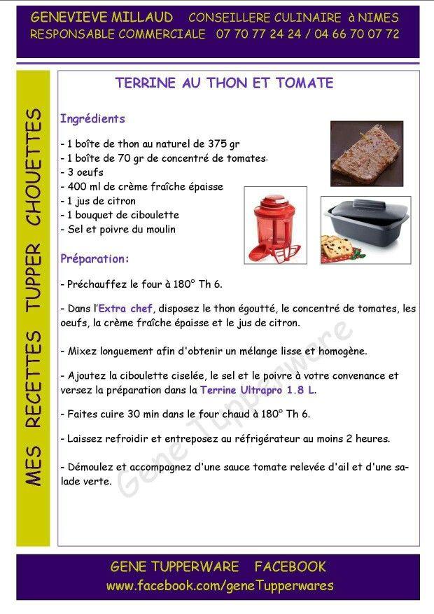 Tupperware - Terrine au thon et tomates